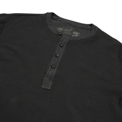Campesina Double Cloth Thermal Henley - Battleship Gray-Grayers