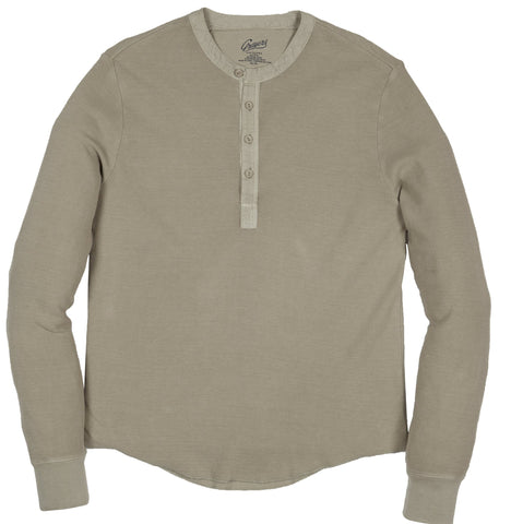 Campesina Double Cloth Thermal Henley - Mocha