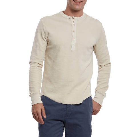 Campesina Double Cloth Thermal Henley - Oatmeal