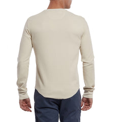 Campesina Double Cloth Thermal Henley - Oatmeal-Grayers