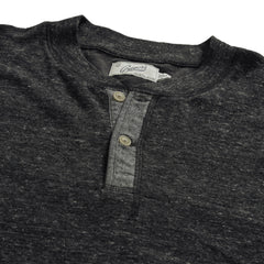 New Windsor Double Cloth Henley - Charcoal Heather