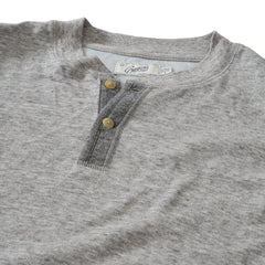New Windsor Double Cloth Henley - Gray Heather