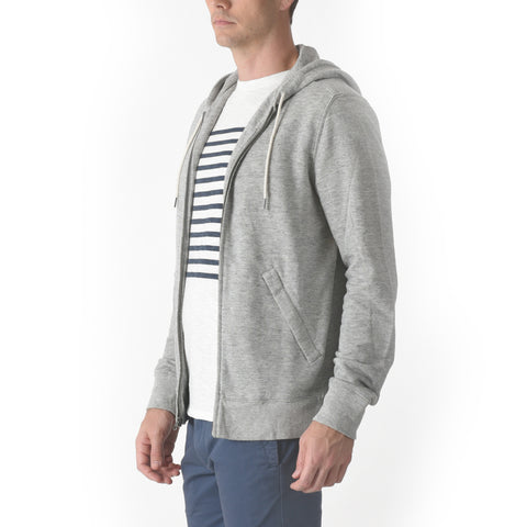 Montague Zip Hoodie - Gray Heather
