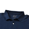 Marlowe Slim Fit Slub Pique Polo - Navy