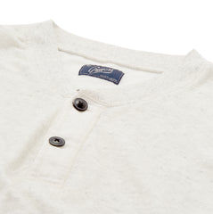 Byron Double Cloth Henley - Heather White-Grayers