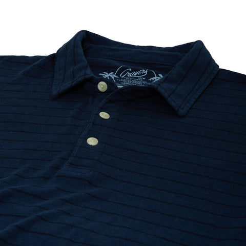 Catalina Stripe Polo - Dunmore Navy