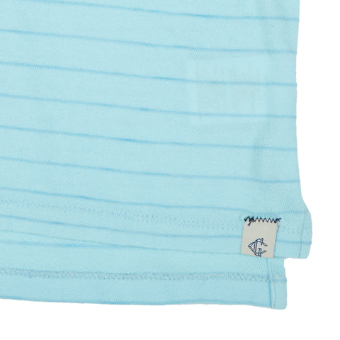 Catalina Stripe Polo - Porcelain Blue
