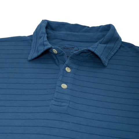 Catalina Stripe Polo - Real Teal