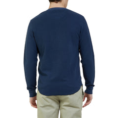 Campesina Double Cloth Thermal Henley - Insignia Blue-Grayers