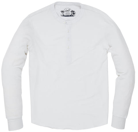 Campesina Double Cloth Thermal Henley - Optical White