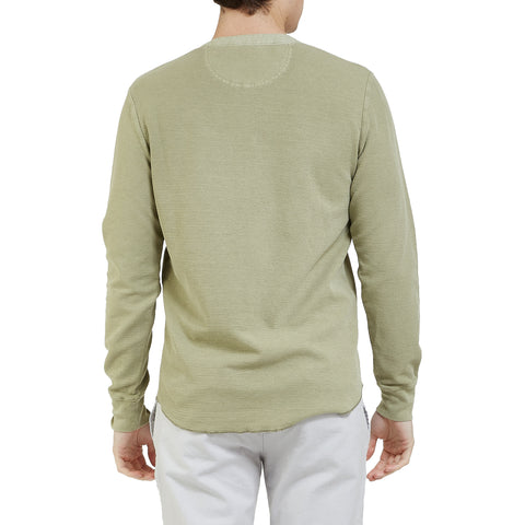 Campesina Double Cloth Thermal Henley - Tea-Grayers
