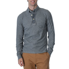 Windsor Double Cloth Henley - Gray Heather