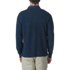 Windsor Double Cloth Henley - Navy-Grayers