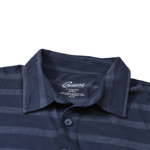 Hastings Stripe Polo - Mood Indigo