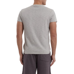 Malaga Cove Stripe Tee - Faded Gray-Grayers