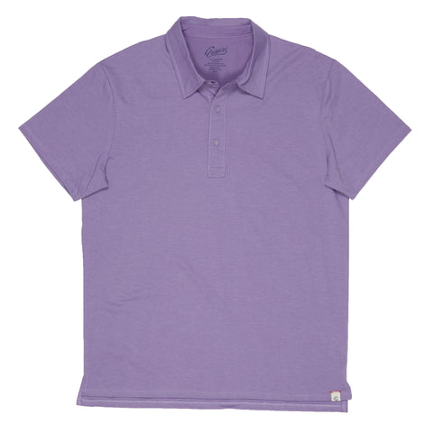 Drake Micro Stripe Polo - Lavender-Grayers