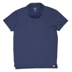 Drake Micro Stripe Polo - Moonlight Blue-Grayers