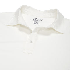 Drake Micro Stripe Polo - Bright White-Grayers