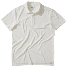 Drake Micro Stripe Polo - Bright White