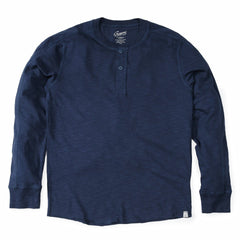 Cooper Slub Jersey Henley - Blue Night-Grayers