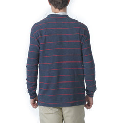 Baird Stripe Double Cloth Thermal Crew - Navy/Red-Grayers