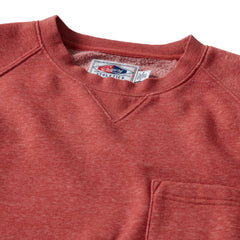 Nolan Marled Fleece Crew Neck - Hot Sauce