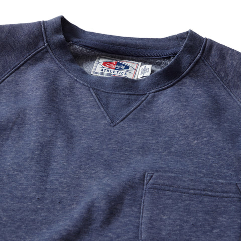 Nolan Marled Fleece Crew Neck - Night Shadow Blue