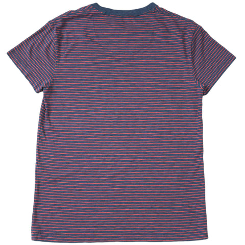 Feeder Stripe Crew - Navy Heather / Garnet Rose