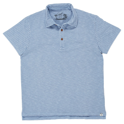 Malaga Cove Stripe Polo - Forever Blue-Grayers