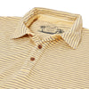 Malaga Cove Stripe Polo - Sahara Sand-Grayers