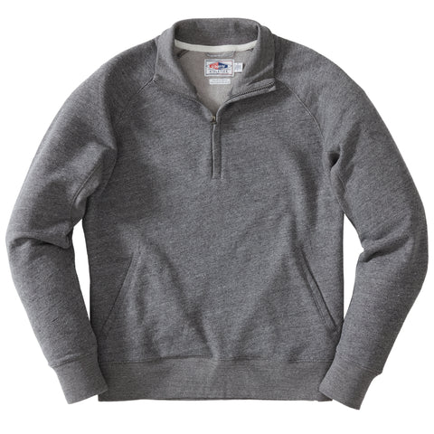 Palmer Athletic Fleece Zip Mock - Charcoal Marl