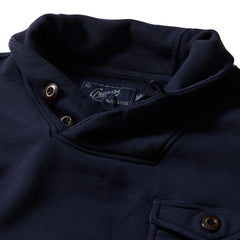 Conner Military Shawl Pullover - Navy