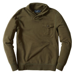 Conner Military Shawl Pullover - Olive