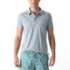 Feeder Stripe Polo - Gray Heather / Blue Shadow