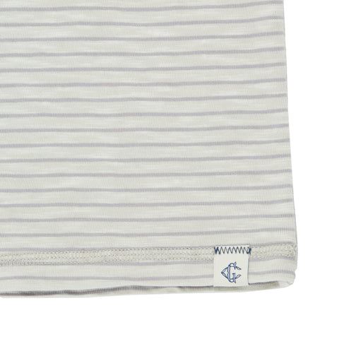 Malaga Cove Stripe Henley - Faded Gray-Grayers