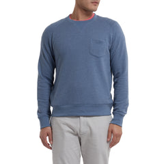 Montague Twill Terry Crew - Blue Heather-Grayers