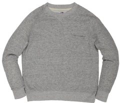 Montague Twill Terry Crew - Gray Heather-Grayers