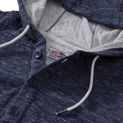 Blake Double Cloth Hoodie - Denim Marl
