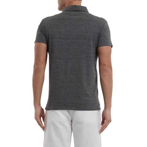 Hartford Nep Jersey Polo - Charcoal-Grayers