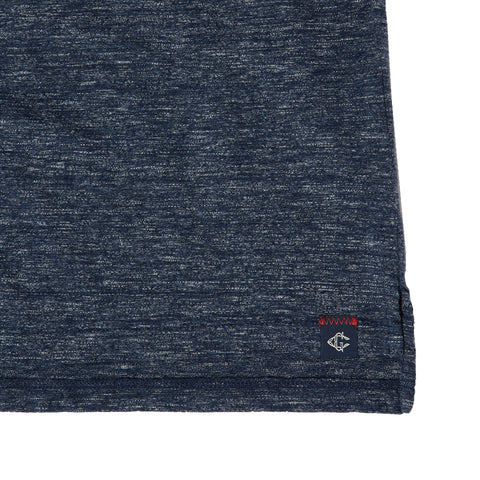 Hartford Slub Nep Jersey Polo - Denim Blue-Grayers