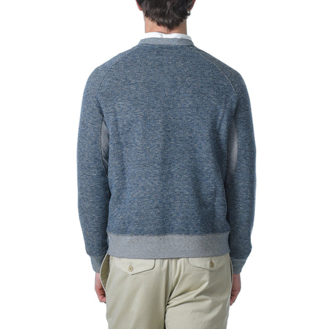 Palmer Athletic Fleece Crew - Blue Marl