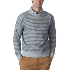 Palmer Athletic Fleece Stripe Crew - Gray Heather/Charcoal-Grayers