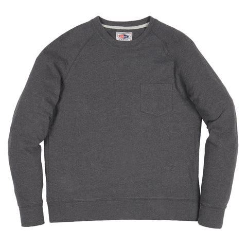 Harris Textured Sweatshirt Pocket Crew - Charcoal Heather-Grayers