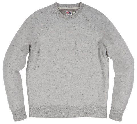 San Remo Reverse Loop Crew - Light Gray Heather