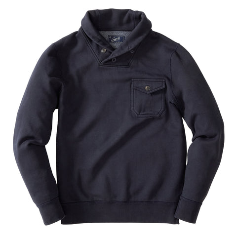 Fleece Military Shawl Pullover - Dunmore Navy