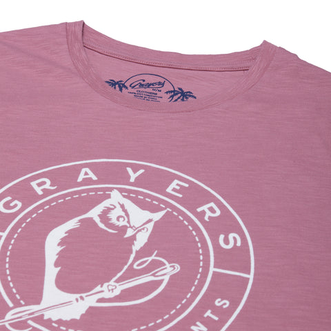 Owl Print Tee - Mesa Rose-Grayers