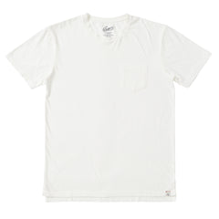 Spencer Micro Stripe Pocket Tee - Bright White