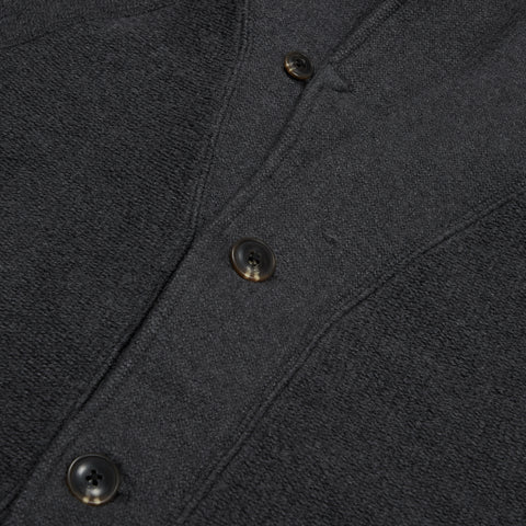 San Remo Reverse Loop Shawl Cardigan - Charcoal Heather-Grayers