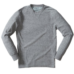 New Windsor Double Cloth Crew - Gray Heather