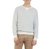 Dalton Terry Crew - Oatmeal White/Navy Stripe